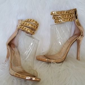 Liliana Rose Gold Shoes / Heels / Sandals - Size 8